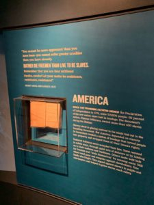 Display in the National Civil Rights Museum